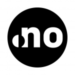 .no badge in monochrome
